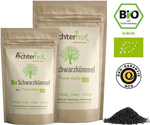Schwarzkümmelsamen Bio ganz (250g) original nigella sativa ägyptischer Schwarzkümmel Samen ganz vom-Achterhof (Nigella Samen)