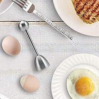 Queta Coquetier d'œuf Coupe-Coquille ouvre-Porte-Oeufs en Acier Inoxydable Outil de Cuisine Couteaux et Ustensiles Outil…