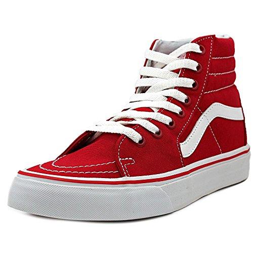 Vans SK8-HI (Canvas) Formula One Red/White Sneakers VN-0TS9GYK (Men 5.0 Women 6.5) (Fan-womens Schuhe)