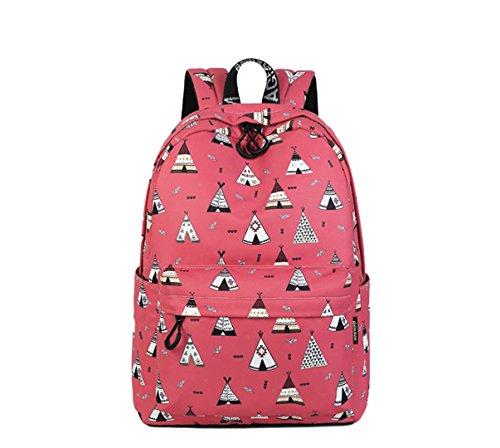 Kunst Druck Laptop Rucksack Wasserdichte Studenten Kinder Schultaschen Für Teenager Mädchen Weiche Rucksack Mujer Red 14 Zoll