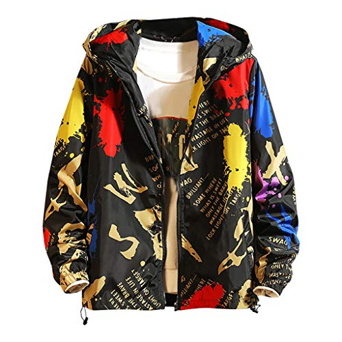 kolila Unisex Hip-Hop Kapuzenpullover Tops Herbst Winter Casual Graffiti Brief Print Streetwear Stil Pullover Sweatshirt Jacke Mantel Herren