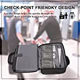 Laptop Briefcase Bag, TSA Computer Messenger Bag, Unisex Business Office Laptop Case with Air Port Friendly Design, Nylon Business Shoulder Notebook Bag For Men/Women/Unisex-Black 15.6 inch