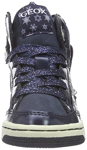 Geox Jr Creamy C, Scarpe da Ginnastica Alte Bambina Blau (NAVYC4002)
