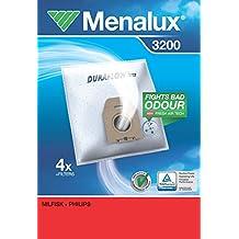 Menalux 3200 Duraflow - Bolsas para aspiradoras Karstadt y Philips (4 unidades)