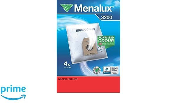 Menalux 3200 Staubsaugerbeutel für Philips Classique,Vision; Nilfisk New Line NF