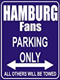 Indigos UG - Parking Only - Hamburg - Garage / Carport - Parkplatzschild 32x24 cm schwarz/silber - Alu-Dibond - Folienbeschriftung