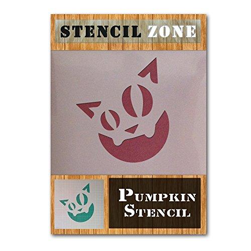 (Katze Halloween Mylar Gemälde Kürbis Art Wand Schablone A5 Size Stencil - XSmall)