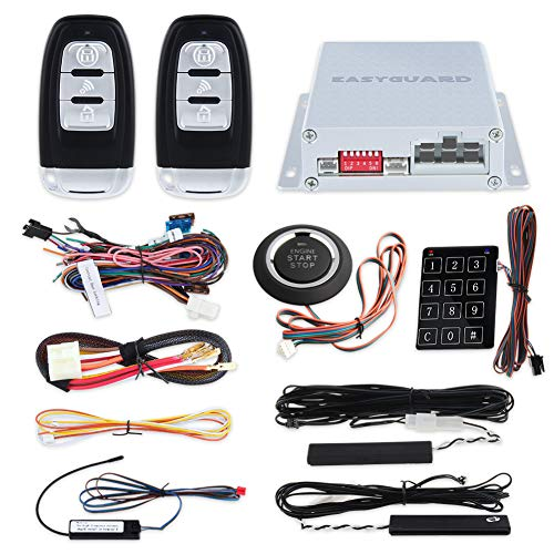 Smart Schlüssel Rfid PKE Auto Alarm System Fernbedienung Motor Start Starter Druck Start Knopf & Touch Passwort Entritt Schlüssellos Go System Universell Version - Remote Start Smart Starter