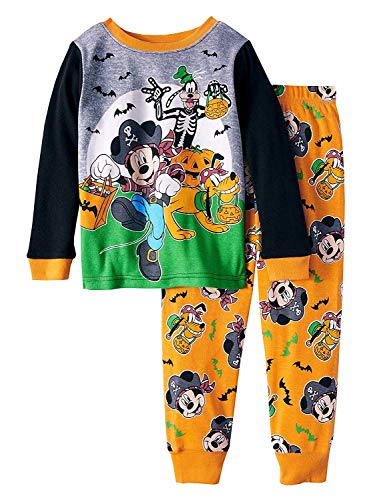 Mickey Mouse Halloween Glow-in-The-Dark Cotton Tight Fit Pajamas, 2-Piece Set (Toddler Boys) (4T)