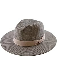 Amazon.it  Straw Hat - Cappelli Panama   Cappelli e cappellini ... 614a41c7b9c9