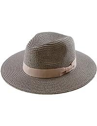 Amazon.it  Straw Hat - Cappelli Panama   Cappelli e cappellini ... 1b48657b14e1