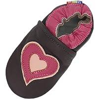 Carozoo Chaussons en cuir souple pour bébé