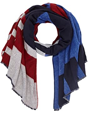 Tommy Hilfiger Damen Schal Block Party Scarf, Blau (Corporate 901), One Size
