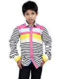 Zeal Boy's Striped full Sleeve Cotton Sh...