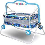 #3: Akshat Stroller Cradle Baby bed with swing feature for babies up to 18 months and supports max of 15 kgs