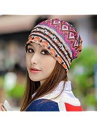 TXD Hat Durante la Primavera y el Oto o Cap Ni os Multi-patr¨n de Color Kit  Fina Cabeza Hueca de Marea Coreano… 13889ae72d6