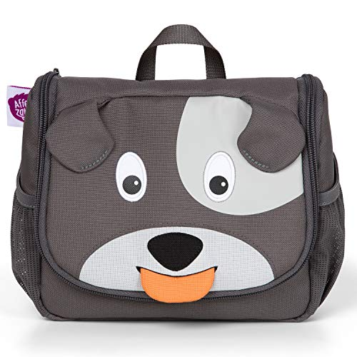 Affenzahn Kulturtasche für 1-3 Jährige Kinder im Kindergarten - Hugo Hund - Grau