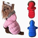 LA VIE Hundemantel Herbst und Winter Mantel Winddicht Warme Hundebekleidung mit Kapuze für Kleine Mittlere und Große Hunde Rosa S