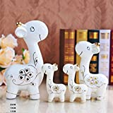 Lotefong The Living Room Decoration Decoration Decoration Home Furnishing Animal Study Of Ceramic Decoration And Warm Family Of Three Or Four Deer Deer Hollow Small Adorable Family Of Three,A Hollowed Out Deer, A Family Of Four