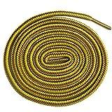 1 Paar Collonil Schnürsenkel Kordel - rund - dick - Ø 3 mm verschiedene Farben und Längen (90 cm, orangebraun/gelb)