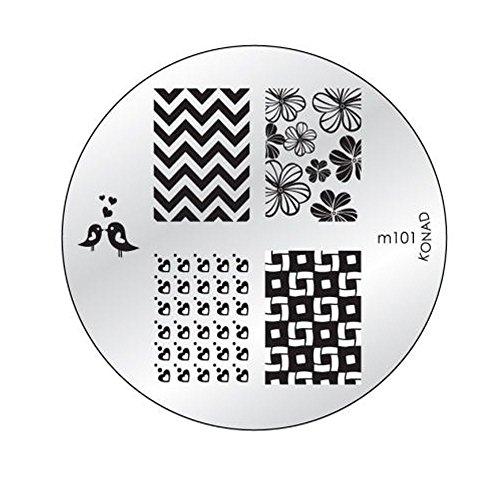 Konad M101 Plaque Pochoir