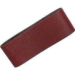 Makita P-36924 Ceinture abrasive 100 x 610 MM Taille du grain K120, 5 ceintures, Rouge