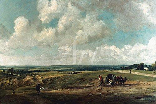 Artland Poster oder Leinwand-Bild fertig aufgespannt auf Keilrahmen mit Motiv John Constable Heide in Hampstead, um 1820 Landschaften Wiesen & Bäume Malerei Türkis C4JP