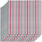 Vent du Sud 6STAUBGAL Lot de 6 Serviettes de Table Aubrac Coton Galet 45 x 45 cm