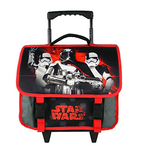 CARTABLE A ROULETTES 38CM NOIR-STAR WARS DISNEY
