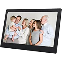 Discoball 10 inch Digital Photo Frame [ HD 720p LED Display   16:9 Widescreen ] (Metal Bezel - Black)