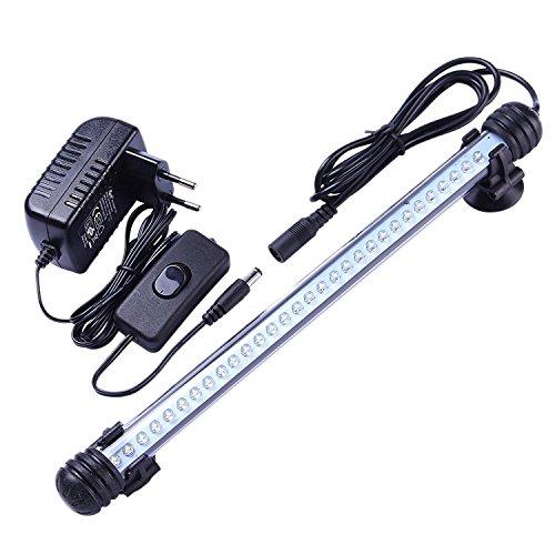Tingkam® 37CM 42 LED IP68 weiß Aquarium Wasserdichte Leuchten Aquarien beleuchtung