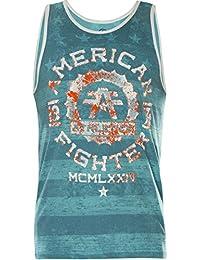 AMERICAN FIGHTER Affliction Tank Top Santa Clara Marble Blau//Weiß Herren