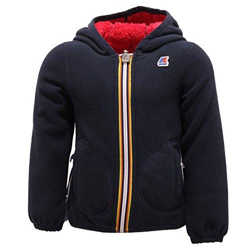 5302R giubbotto K-WAY LILY DOUBLE felpa orsetto reversibile blu/fuxia jacket kid [4 YEARS]