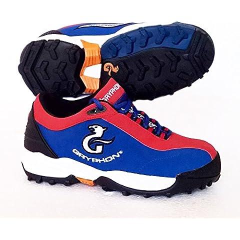 Gryphon–Zapatillas de hockey Viper (azul/rojo), talla 3/UE 36