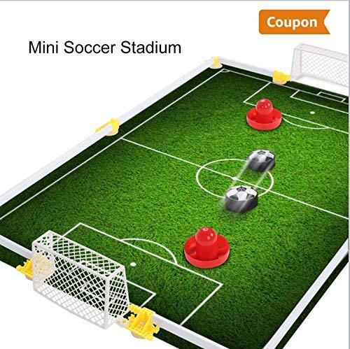 Kinder Air Power Fußball Set Spielscheibe Hover Fußballspiel mit Schaum Stoßfänger für Jungen und Mädchen Spielzeug -