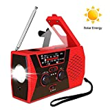 Radio Solaire à manivelle - Radio Dynamo AM/FM/NOAA - Radio météo avec Lampe de...