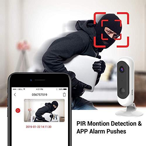Luckyx HD 1080P WiFi Überwachungskamera Innen WLAN Handy Wireless IP Kamera Mit Bewegungserkennung, 2-Wege-Audio, Infrarot Nachtsicht, Baby/Haustier/Haus Sicherheitskamera PIR-Bewegungserkennung -