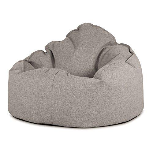 Lounge Pug, 'Mini-Mammoth' Sitzsack, Sessel, Interalli Wolle Silber