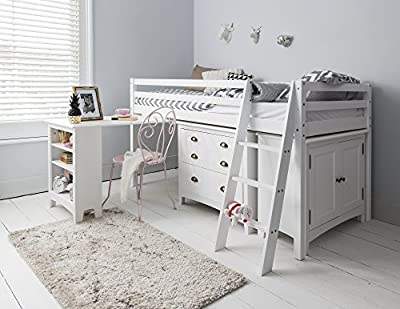 Noa and Nani Cabin Bed Sleepstation Midsleeper with Desk, Chest of Drawers & Cabinet
