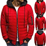 Kapuzenjacke Wintermantel Herren Männer Junge 2019 Daunenjacke mit Kapuze Reißverschluss-Mantel Outwear-Jacken-Spitzen-Bluse Arktis-Expedition warme Outwear Top M-3XL