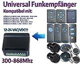 Universal Funkempfänger kompatibel mit Hörmann HS1 / HS2 / HS4 / HSE2 / HSM2 / HSM4 / FIT2 / HDS2-A 868 / HSD2-C 868 / HSZ1 868 / HSZ2 868 / HSP4 868 / HSP4-C 868 handsender. 2-befehl Rolling Fixed code 300Mhz-868Mhz 12 - 24 VAC/DC Funkempfänger.