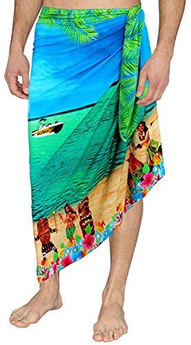 Likre Playa baño diseñador Hombres Envuelve Camisa