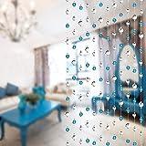100CM Kristall Ketten Blau für Türvorhang Raumteiler Party Hochzeit Deko (1 Stück)