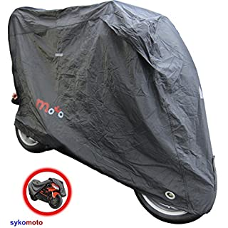 AQUALUX PLUS MOTORCYCLE WATERPROOF DUST PROOF COVER WITH UV PROTECTION ANTI SCRATCH ELASTIC BASE WITH LOCK HOLES OUTDOOR PROTECTION (S (UNDER 500CC))