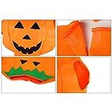 Unisex-Abendkleid-Kürbis-Outfit Kleidung für die Halloween-Kostüm-Partei, Halloween-Kürbis-Kostüm Jumpsuits für Maskerade Dekoration (Erwachsene) -
