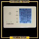 Particulas en suspensión medidor detector particula láser PM2.5/PM10 formaldehido (HCHO) benceno/TVOC temperatura humedad *blanco* FS3-WEISS