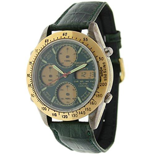 Orient Watch Hd-8221-d Reloj Analogico/Digital para Hombre Caja De Metal Esfera Color Verde