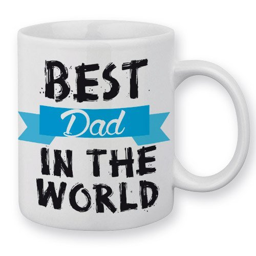 Mug Best Dad in the World (Meilleure Papa du Monde) Fête des Pères - Fabriqué en France - Licence officielle Chamalow shop