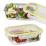 Vhari 3 contenitore di contenitore per alimenti per contenitori per alimenti (Set di 2 x 950ml) - Senza tenuta, Airtight & BPA - Congelatore, forno, lavastoviglie e microonde