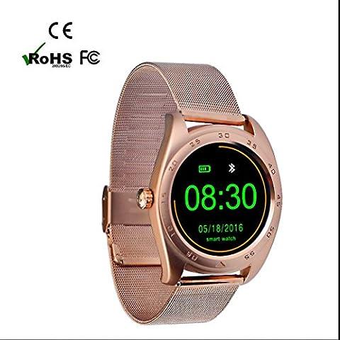 Sport Smartwatch Bluetooth Smart Uhr unterstützt Pulsmesser Schlafmonitor Schrittzähler Finder Anti-lost Bluetooth Anruf Anrufanzeige Fern Fotografieren Aussehen Vogue für (Super Finder-system)